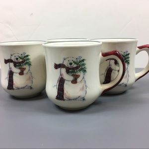 Vintage set pfaltzgraff polar bear Christmas mugs